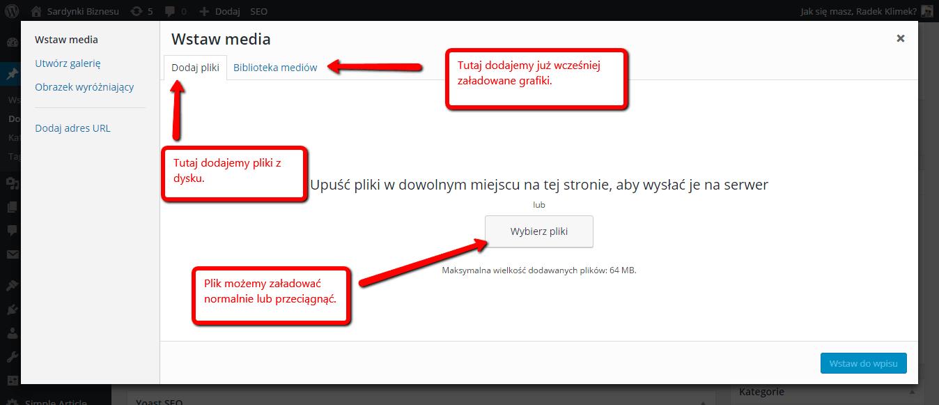 Dwa sposoby na dodanie pliku do WordPress