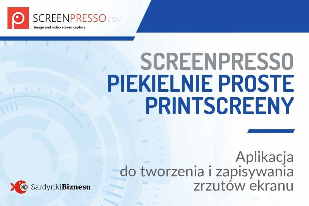 Screenpresso to bardzo prosta aplikacja do robienia zrzutów ekranu.
