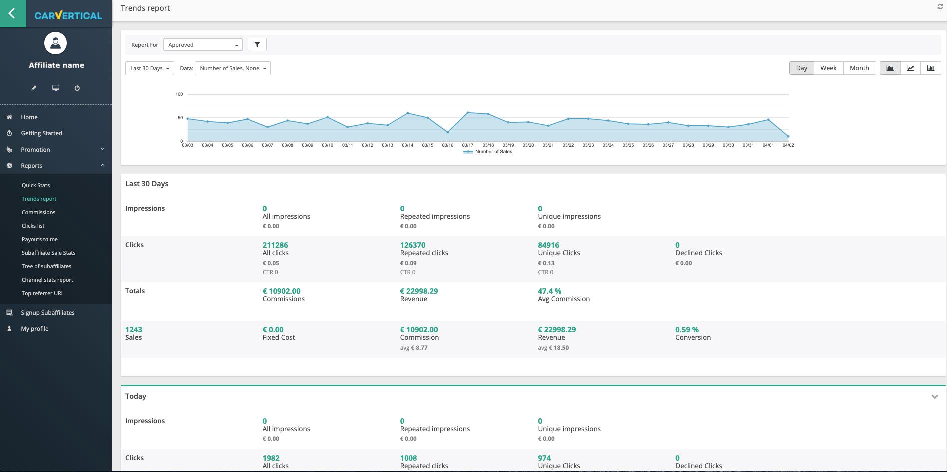 carvertical - program partnerski screenshot