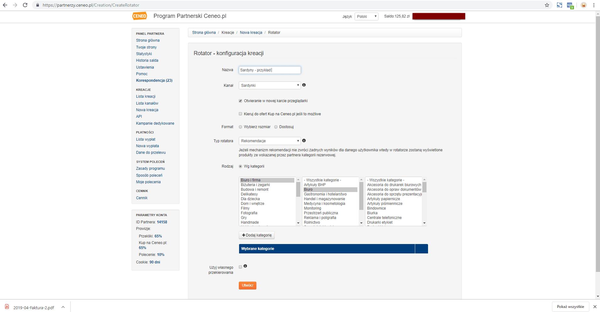 Jak wybrać afiliację na Ceneo.pl?