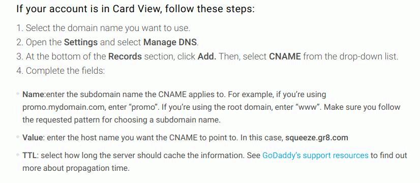 Znajdujemy rekord CNAME naszej sub domeny.