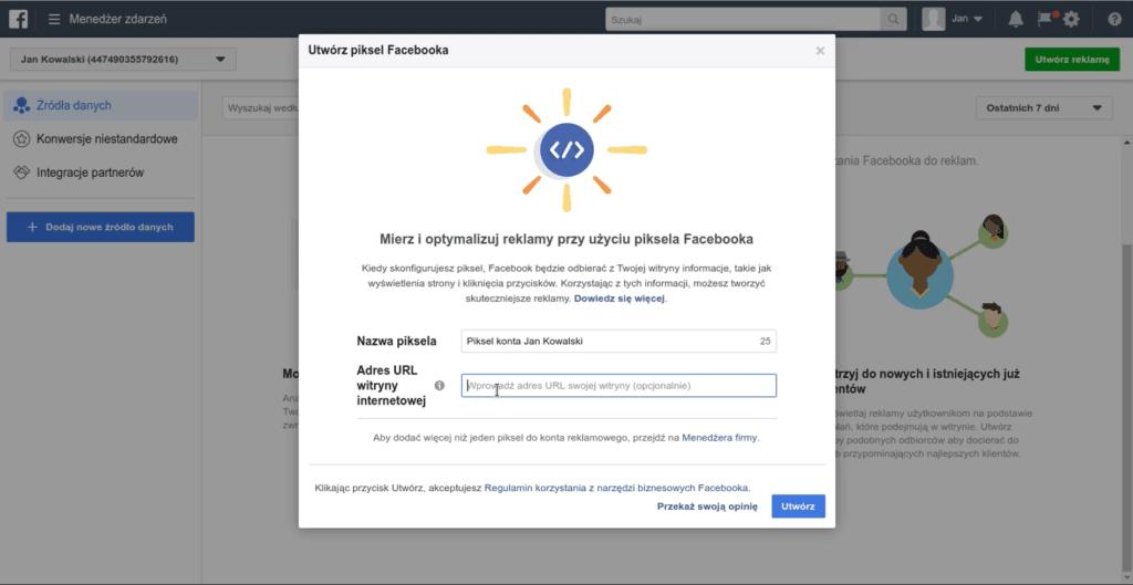 Poradnik jak dodać PIXEL Facebook do swojej strony WWW.