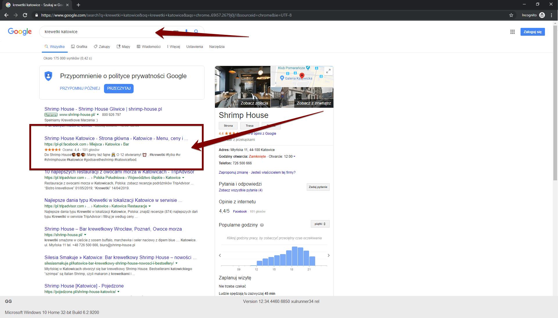 Wysokie wyświetlanie wyników wyszukiwania