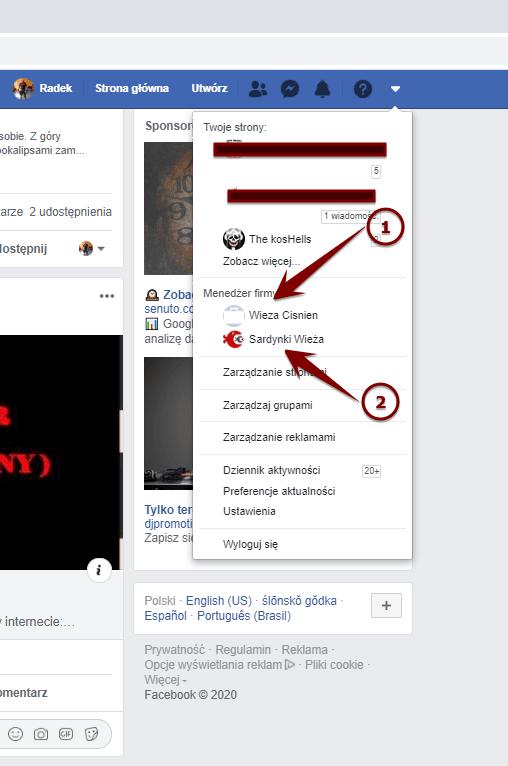 facebook blokada kontra reklamowego drugie konto przyklad