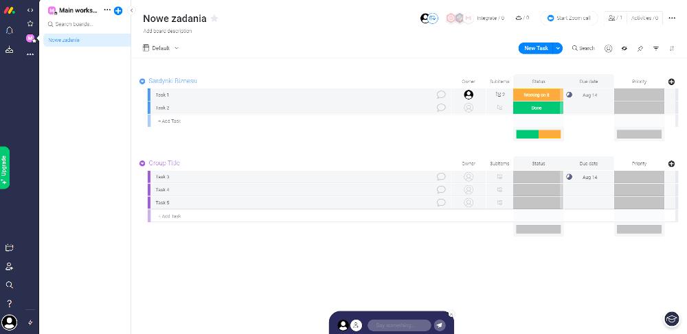 Program do zarządzania projektami monday.com.