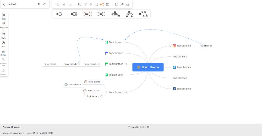 Program do tworzenia map myśli GitMind.