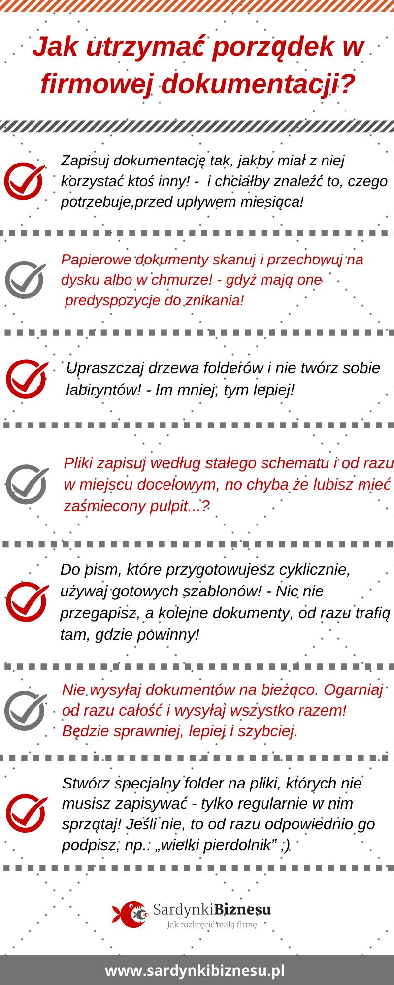 Porządkowanie faktur i dokumentów firmowych