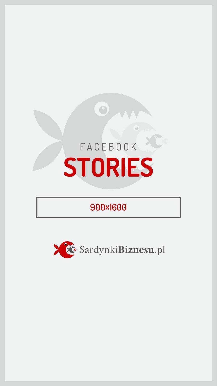 Rozmiar grafiki dla stories na Facebooku.