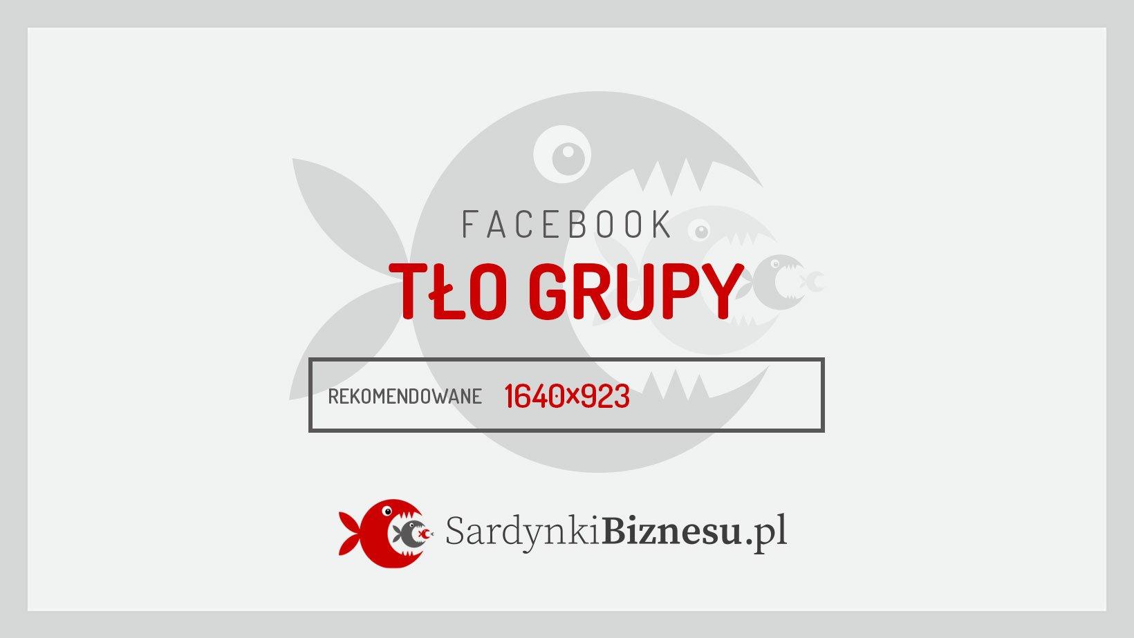 Rekomendowany wymiar grafiki tła grupy na Facebooku.