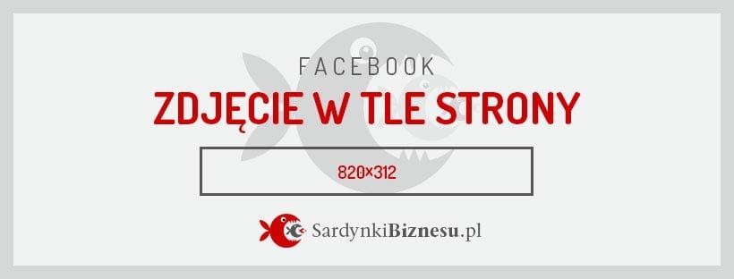 Rozmiar grafiki dla zdjęcia w tle strony na Facebooka.