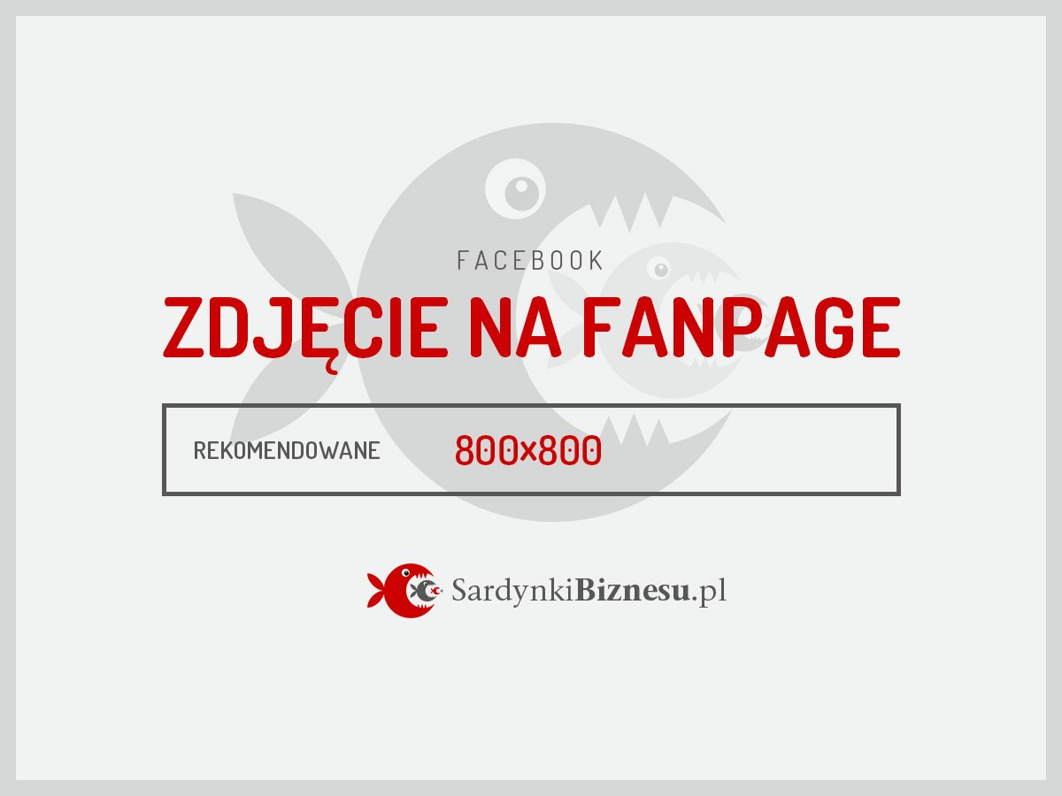 Rekomendowany wymiar grafiki na fanpage na Facebooku.