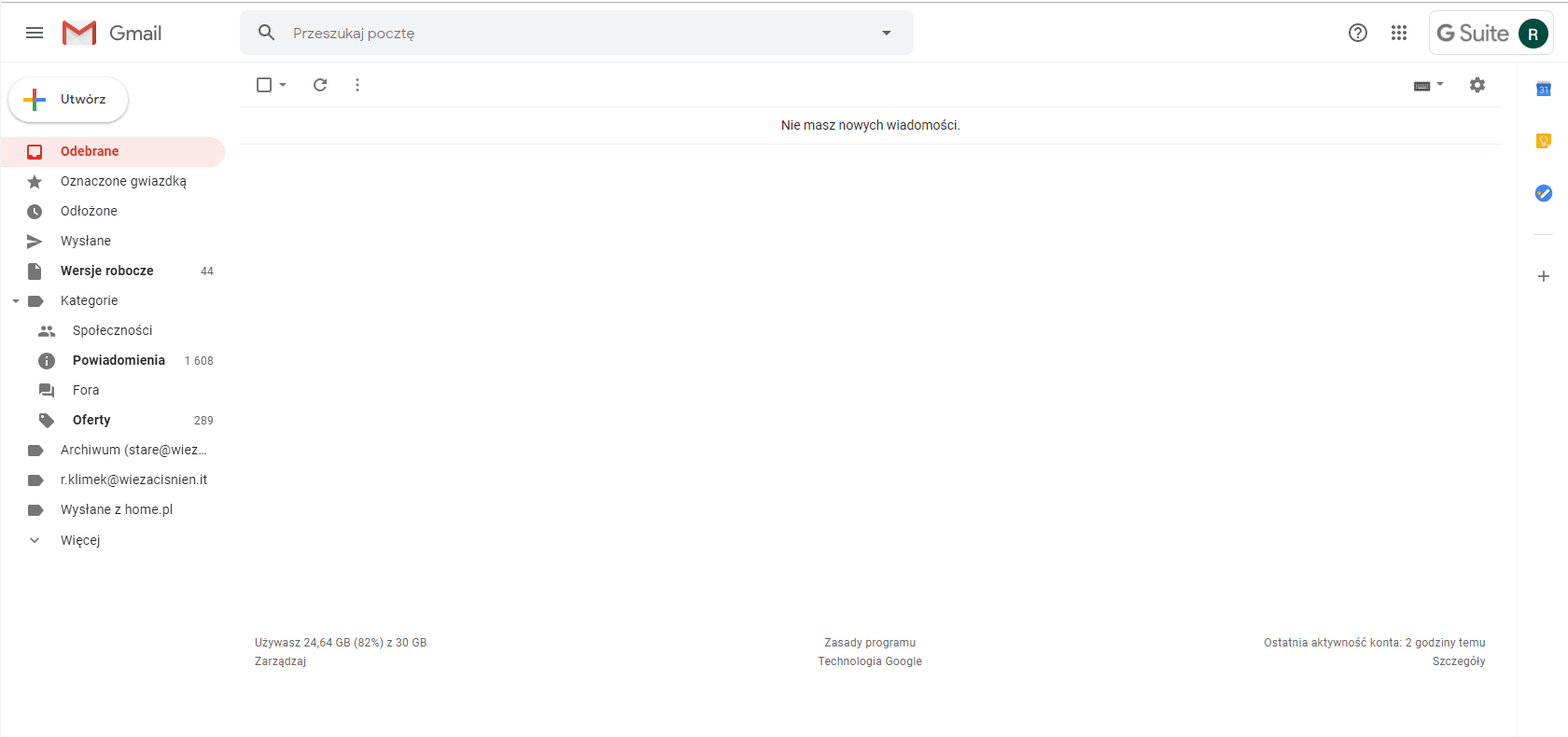 Inbox zero w mailu - do tego dążymy.