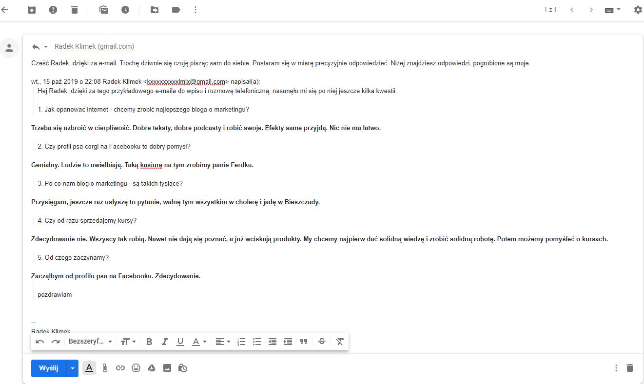 Przykład e-maila po edycji.