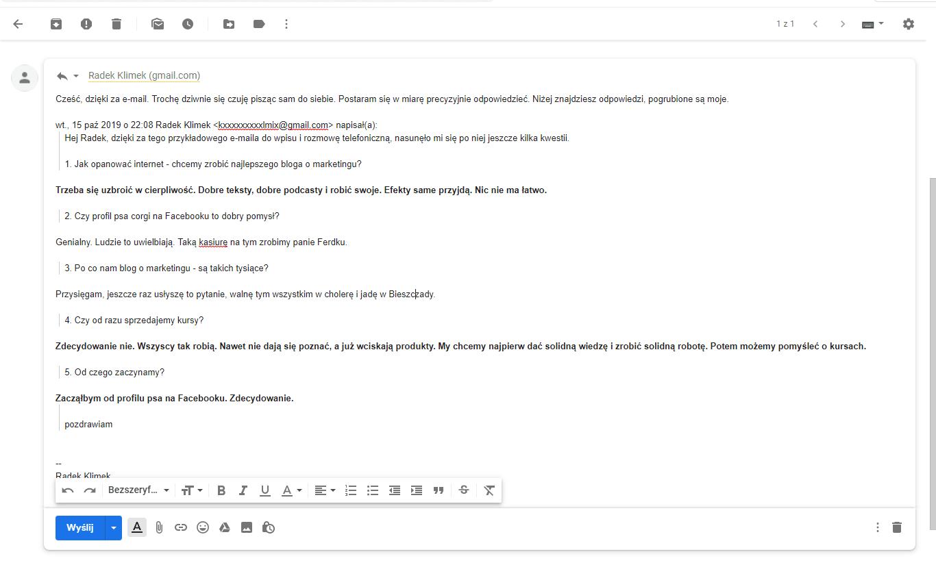 przyklad edycji e-maila