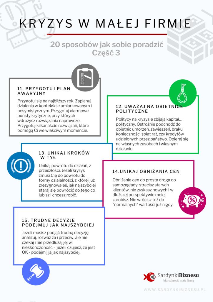 Krysy gospodarczy 2020 jak sobie poradzić - część 3 infografiki.