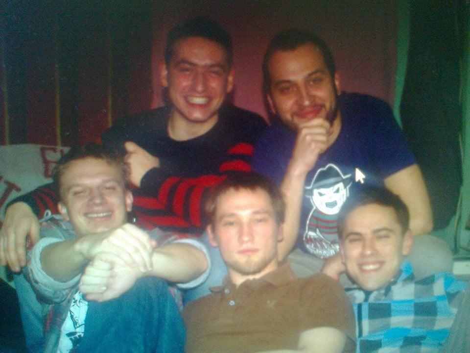 The koshells - Jaros, Fryta, Radek, Humbak i Jurczi.