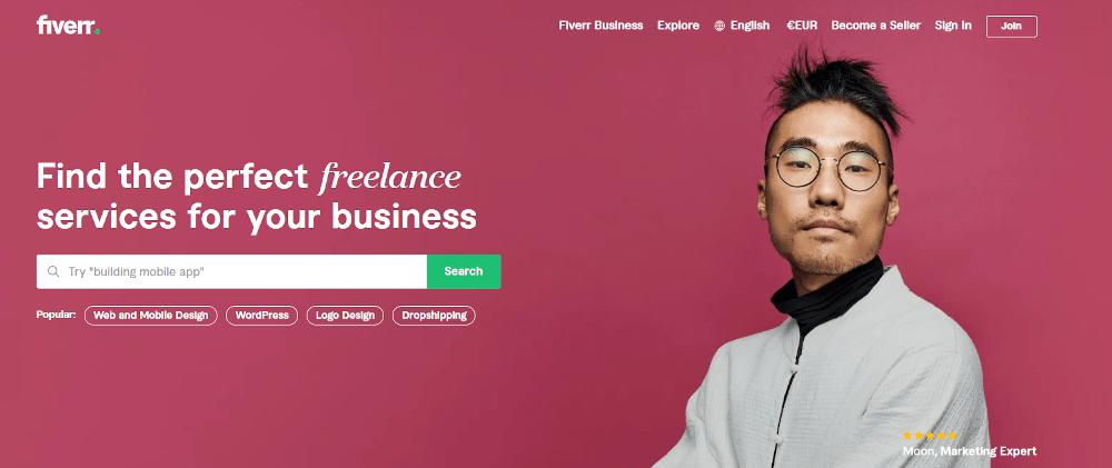 Praca dla freelancera za granicą dzięki portalowi Fiverr.