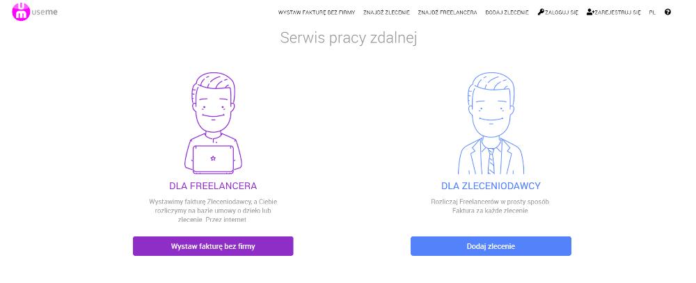 Praca dla freelancera na portalu Useme