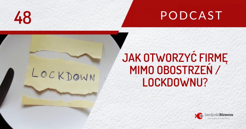 lockdown / obostrzenia - otwarcie firmy