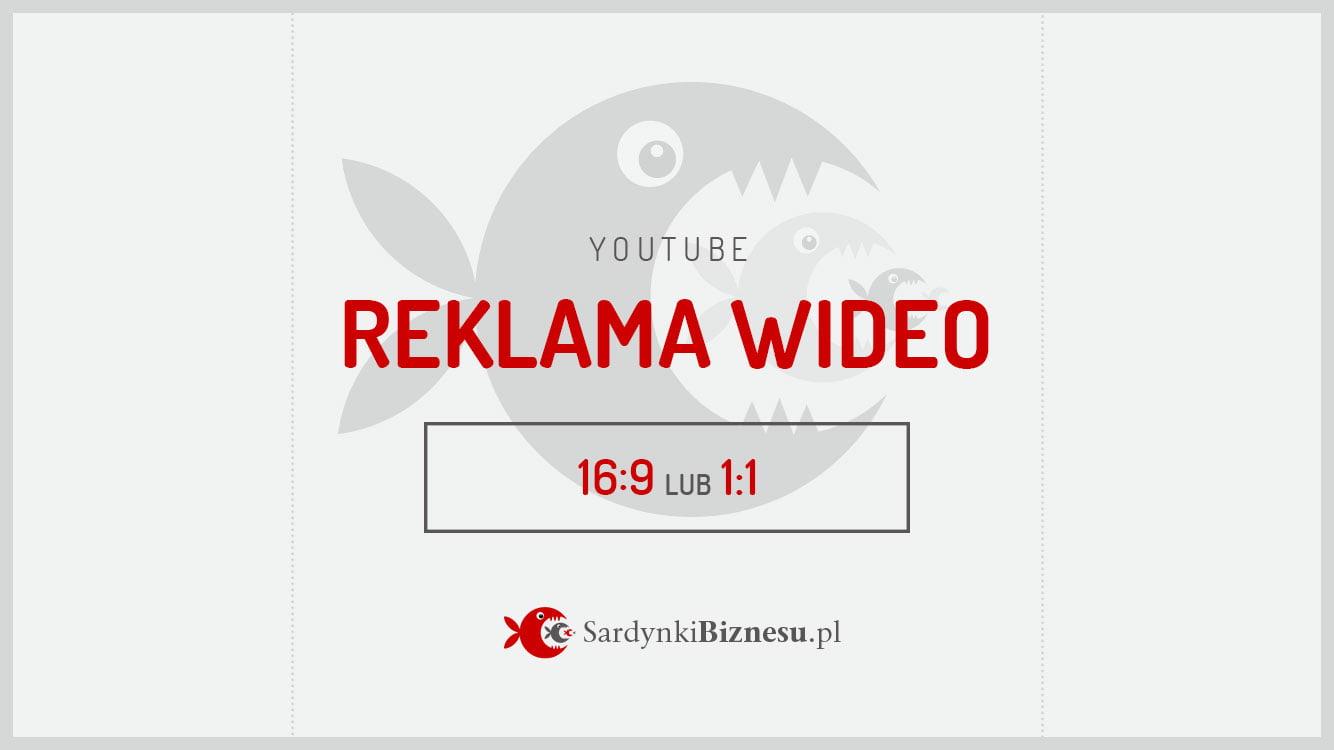 Rozmiar filmu w formie reklamy do wyświetlania na YouTube.