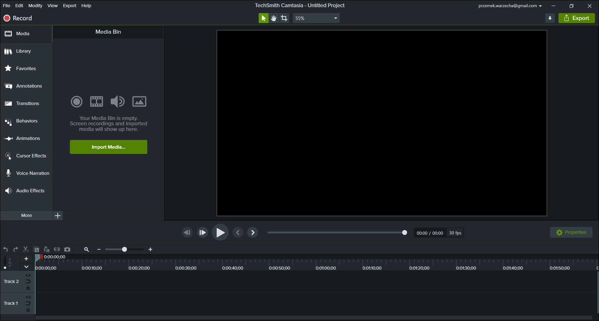 Edycja i montaż filmów w programie Camtasia.