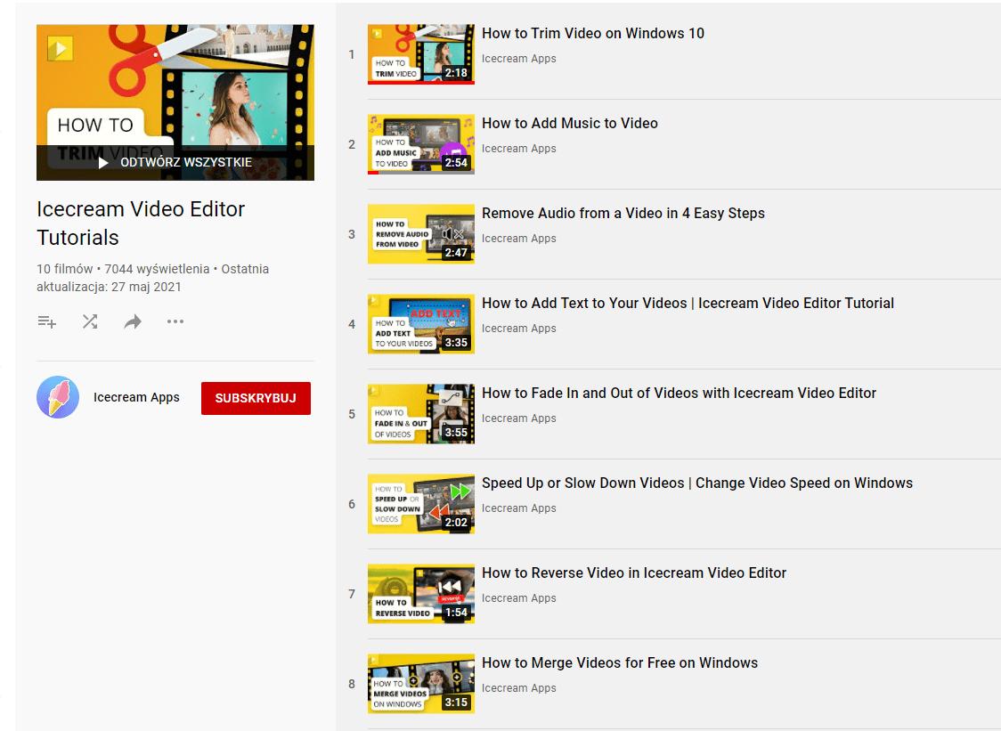 Samouczki jak montować filmy na komputerze.