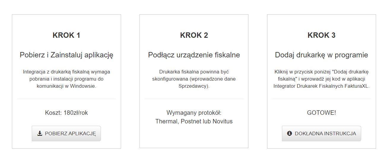 Program do wystawiania paragonów i faktur.