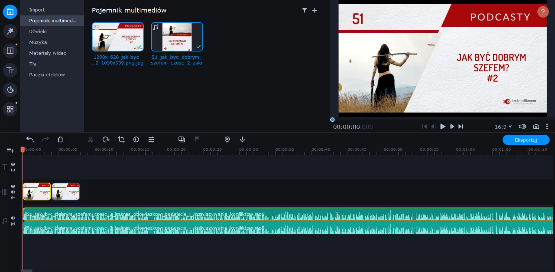 Montuj i edytuj filmy na YouTube z Movavi.