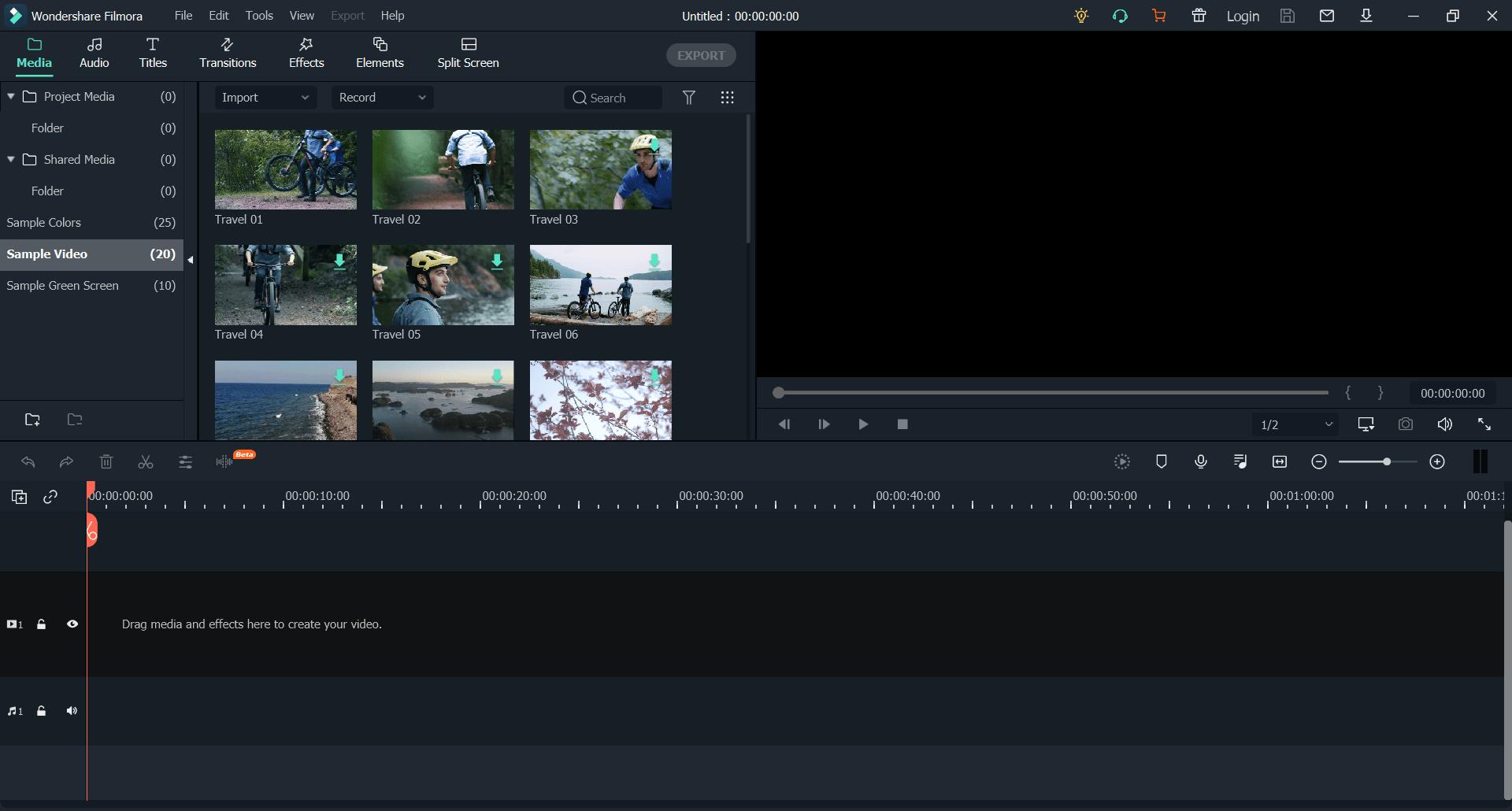 Program do montażu profesjonalnego nagarnia wideo.